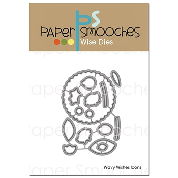 Paper Smooches WAVY WISHES ICONS Wise Dies A2D403*