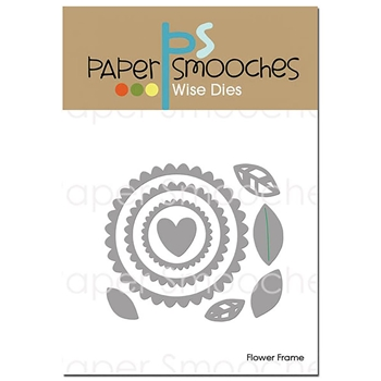 Paper Smooches FLOWER FRAME Wise Dies A2D400