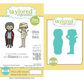 Taylored Expressions MUM'S THE WORD Cling Stamp and Die Set TEPS225