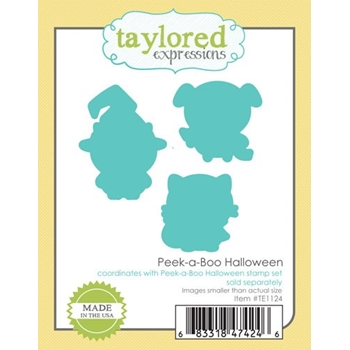 Taylored Expressions PEEK A BOO HALLOWEEN Die Set TE1124