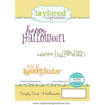 Taylored Expressions SIMPLY SAID HALLOWEEN Cling Stamp Set TEALC119