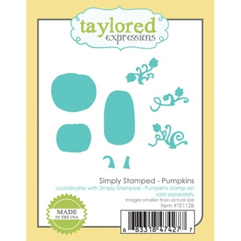Taylored Expressions SIMPLY STAMPED PUMPKINS Die Set TE1128