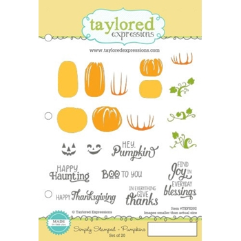 Taylored Expressions SIMPLY STAMPED PUMPKINS Cling Stamp Set TEFS202