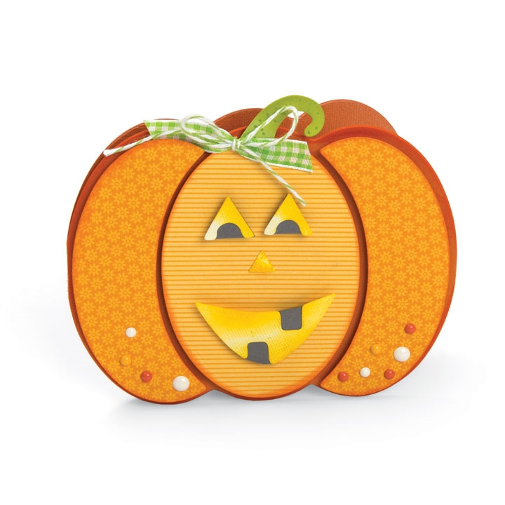 Sizzix Framelits PUMPKIN FOLD ITS Wafer Thin Die Set 662261 zoom image