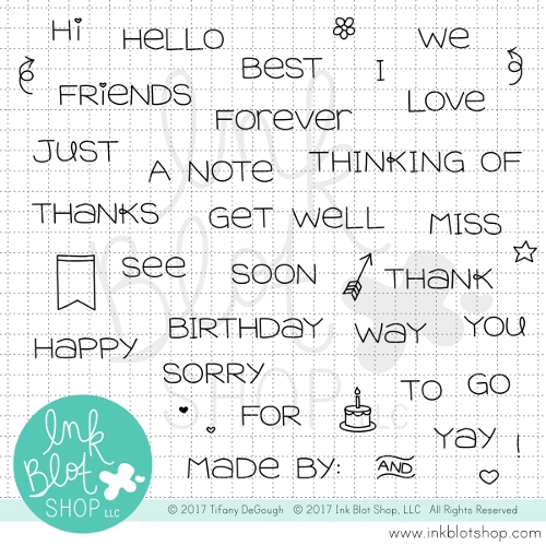 Ink Blot Shop SIMPLE SENTIMENTS