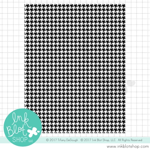 Ink Blot Shop  HOUNDSTOOTH BACKGROUND