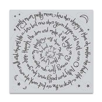Hero Arts Cling Stamp PRETTY MOON SPIRAL Bold Print CG719