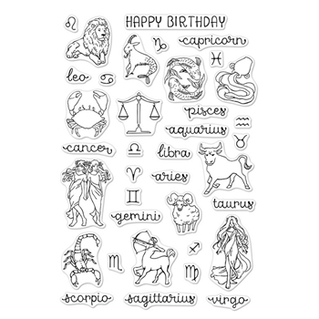 Hero Arts Clear Stamp ZODIAC BIRTHDAY CM196