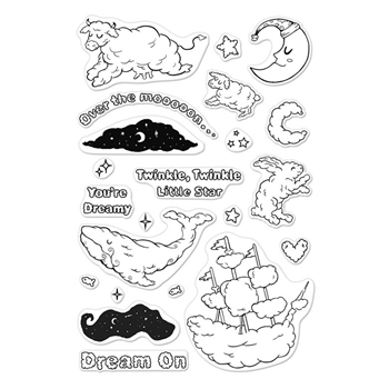 Hero Arts Clear Stamp CLOUDY ANIMALS CM199