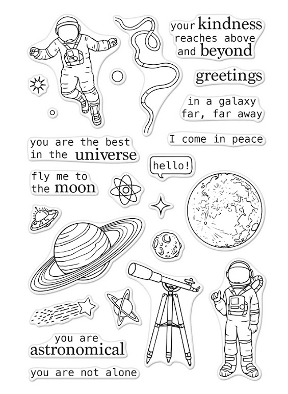 Hero Arts Clear Stamp ASTRONOMICAL CM198 zoom image