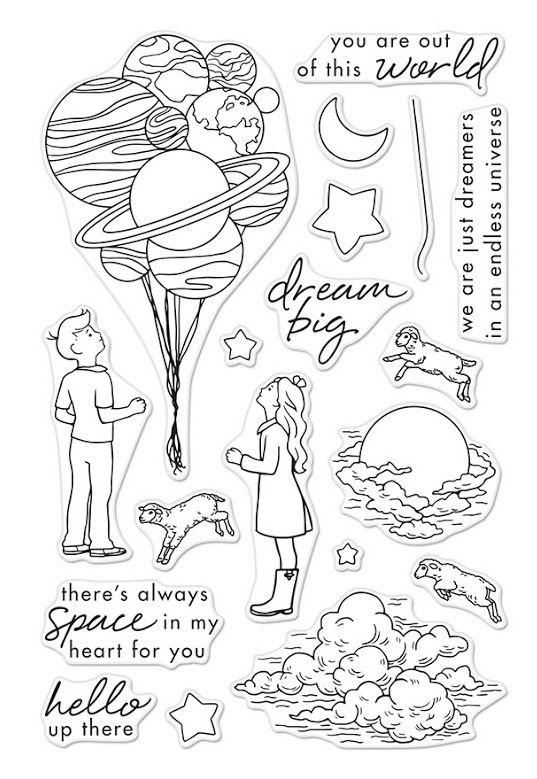 Hero Arts Clear Stamp DREAM BIG CM197 zoom image