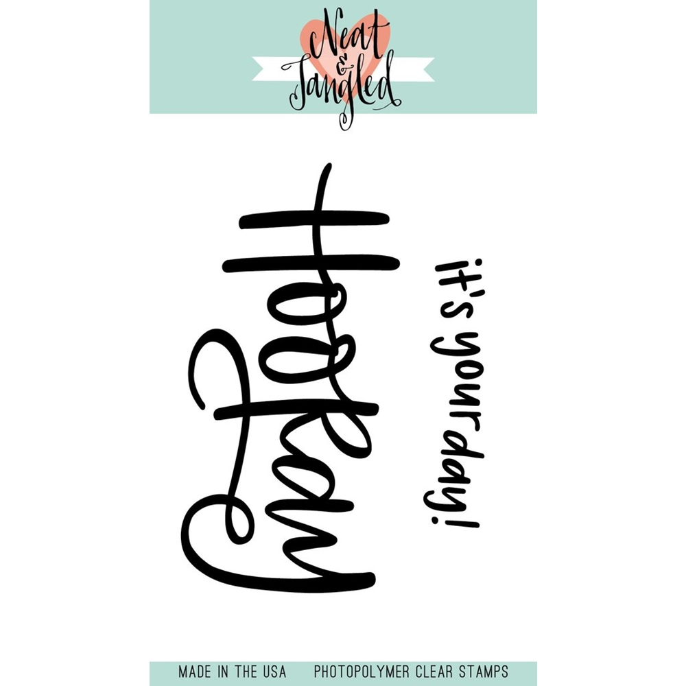 Neat and Tangled HOORAY Clear Stamp Set  zoom image
