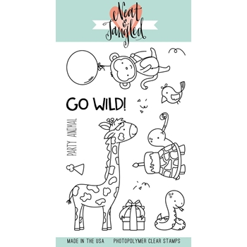 Neat and Tangled WILD ONES Clear Stamp Set