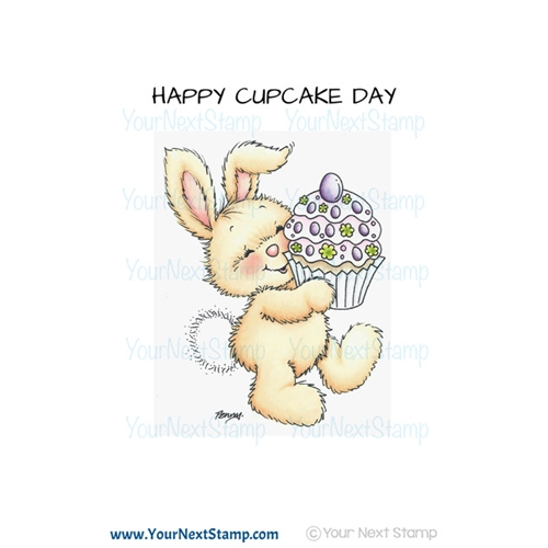 Your Next Stamp YUMMY CUPCAKE BUNNY Clear CYNS592 Preview Image