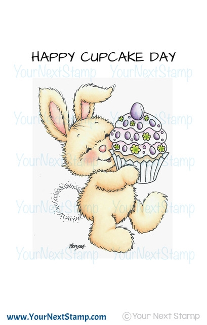 Your Next Stamp YUMMY CUPCAKE BUNNY Clear CYNS592 zoom image
