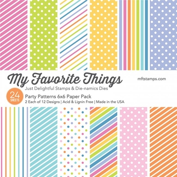 My Favorite Things PARTY PATTERNS 6x6 Paper Pack 17982
