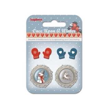 ScrapBerry's ONCE UPON A WINTER Metal Embellishments SCB3409101