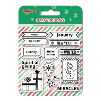 ScrapBerry's SPIRIT OF GIVING Clear Stamps SCB4906004b