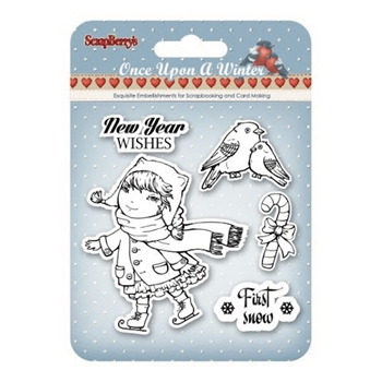 ScrapBerry's ONCE UPON A WINTER 1 Clear Stamps SCB4906007b