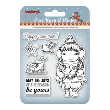 ScrapBerry's ONCE UPON A WINTER 2 Clear Stamps SCB4906008b