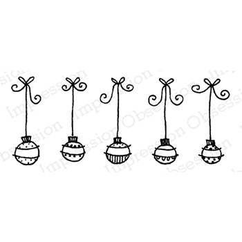 Impression Obsession Cling Stamp FIVE ORNAMENTS C19661