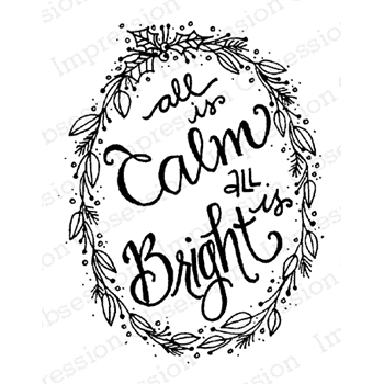 Impression Obsession Cling Stamp CALM AND BRIGHT D19662