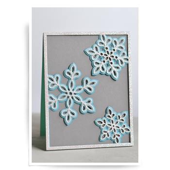 Birch Press Design SHIMMER SNOWFLAKE FRAME LAYER SET Craft Dies 56064