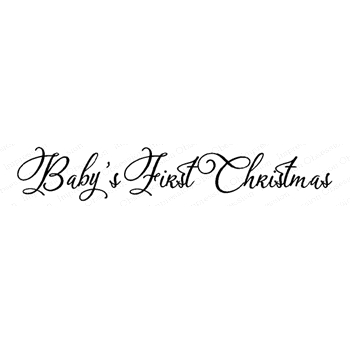 Impression Obsession Cling Stamp BABY'S FIRST CHRISTMAS C20392