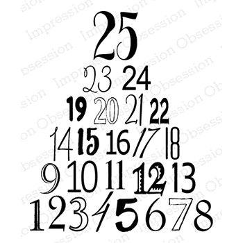 Impression Obsession Cling Stamp 25 DAYS F14684