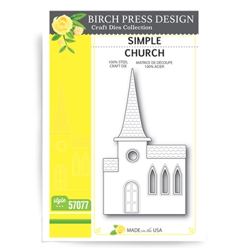 Birch Press Design SIMPLE CHURCH Craft Die 57077