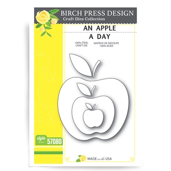 Birch Press Design AN APPLE A DAY Craft Die 57080
