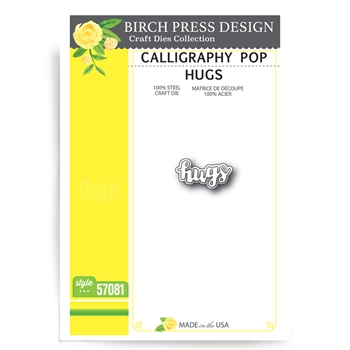Birch Press Design CALLIGRAPHY POP HUGS Craft Dies 57081