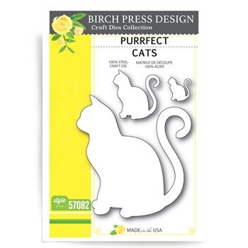 Birch Press Design PURRFECT CATS Craft Die 57082