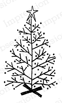 Impression Obsession Cling Stamp LINUS TREE C19633