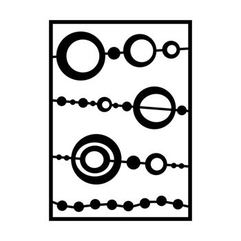 GelliArts BEAD Stencil for Printing Plate 779172