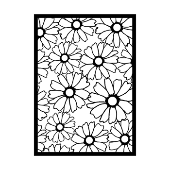 GelliArts FLOWER Stencil for Printing Plate 779158