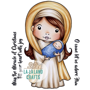 La-La Land Crafts Cling Stamp MARY MARCI 5352