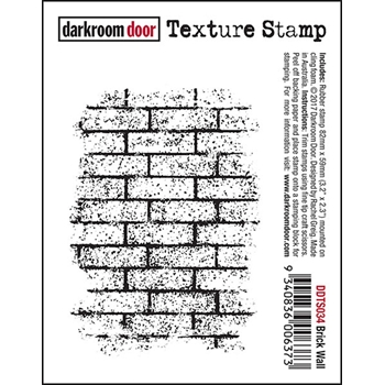 Darkroom Door Cling Stamp BRICK WALL Texture Stamp DDTS034