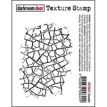 Darkroom Door Cling Stamp CRACKLE Texture Stamp DDTS031