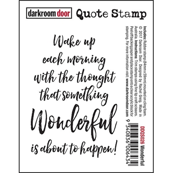 Darkroom Door Cling Stamp WONDERFUL Quote Stamp DDQS026