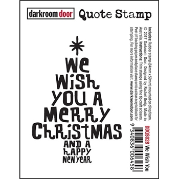Darkroom Door Cling Stamp WE WISH YOU Quote Stamp DDQS028