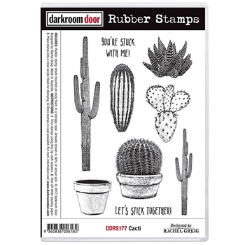 Darkroom Door Cling Stamp CACTI Rubber UM DDRS177