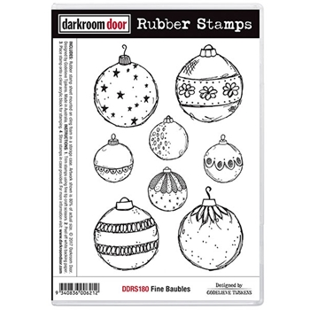 Darkroom Door Cling Stamp FINE BAUBLES Rubber UM DDRS180