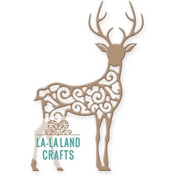 La-La Land Crafts FILIGREE REINDEER 1 Die 8329