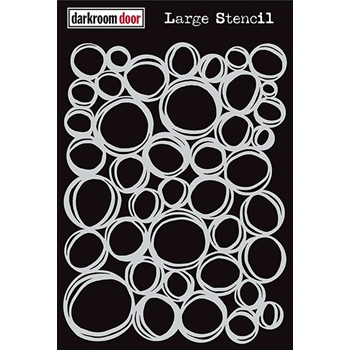 Darkroom Door CIRCLES Large Stencil DDLS002