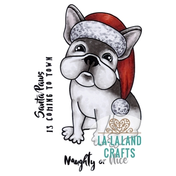 La-La Land Crafts Cling CHRISTMAS FRENCHIE 7018