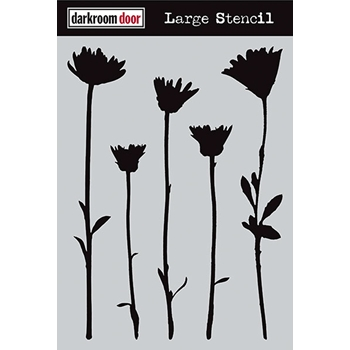 Darkroom Door WILDFLOWERS Large Stencil DDLS004