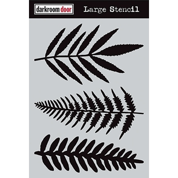 Darkroom Door FERNS Large Stencil DDLS005
