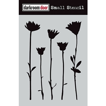Darkroom Door WILDFLOWERS Small Stencil DDSS004