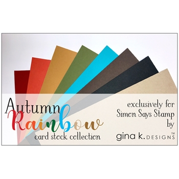 Gina K Designs AUTUMN RAINBOW 24 Pack 8.5 x 11 Inch Cardstock 1240
